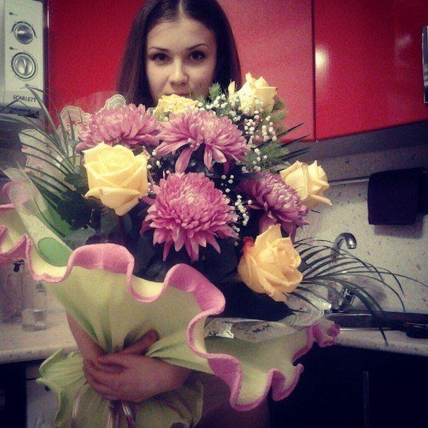 Красивое селфи с цветами 80